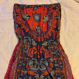 Other - Floral Strapless Romper